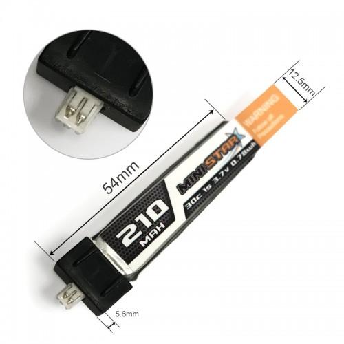 CNHL G+ Mini Star 1s 210mAh 30C LiPo Battery w/ micro JST