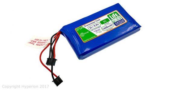 Hyperion G5 Transmitter Pack for FrSky QX7 - (3S 1600mAh LiFePo4)