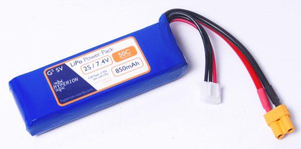 Hyperion G5 2S 7.4V 850mAh 50Cmax LiPo