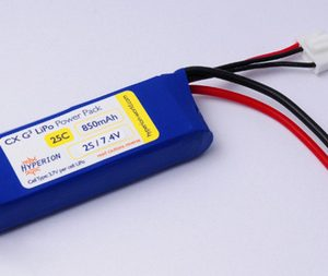 Hyperion G3 CX - 2S 7.4V 850mAh (25C/45C) 6C Charge LiPo