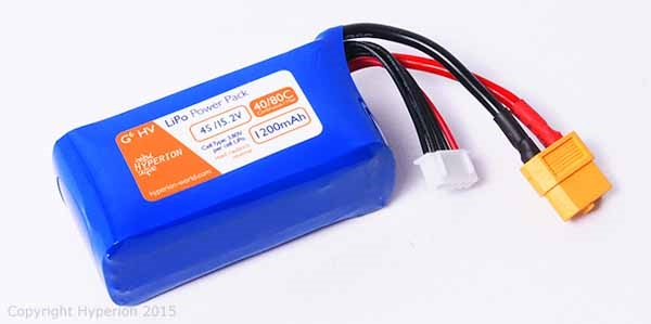 Hyperion G6 Hi-Voltage 4S 15.2V 1200mAh 80Cmax LiPo